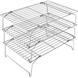 3-Tier Cooling Rack Set, P&P CHEF Stackable Stainless Steel Baking Cooling Roasting Cooking Racks for Cake, Pastry…