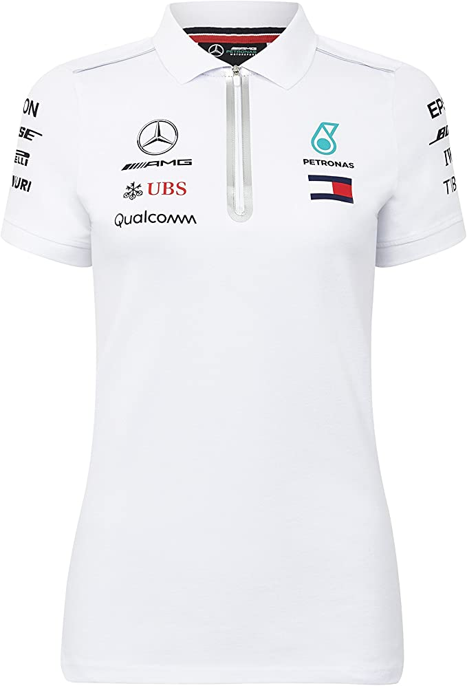 Mercedes-AMG Petronas Motorsport 2019 F1 Womens Team Polo Shirt Black