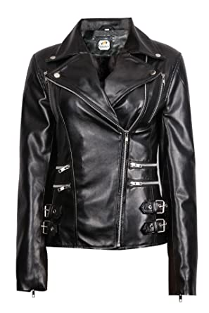 5006cd7ded7 ST Black Ladies Fashion Pu Faux Racing Style Biker Jacket Women Designer Motorcycle  Jacket Petite Short