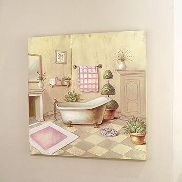Deko Dekoration Bild Gemälde Quadratisch für Badezimmer Landhaus ...