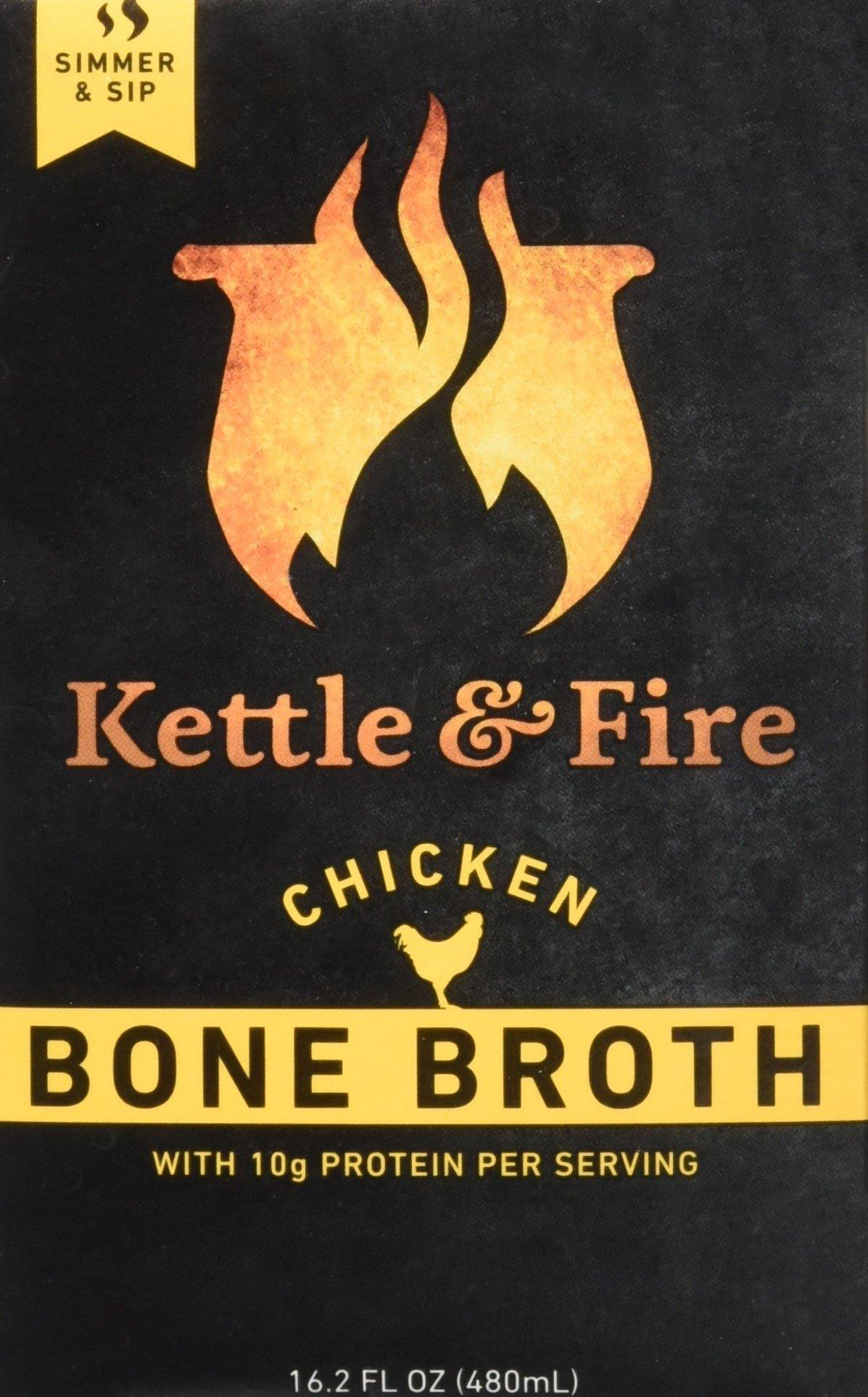Kettle & Fire Chicken Bone Broth Organic Collagen-rich Bone Broth, 16.2 ounce