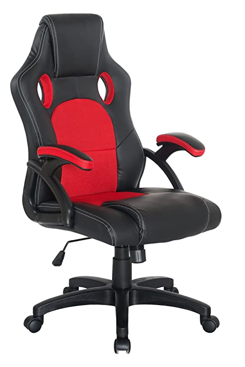 Super Amazon Com Racing Gaming Chair Red And Black Home Office Andrewgaddart Wooden Chair Designs For Living Room Andrewgaddartcom