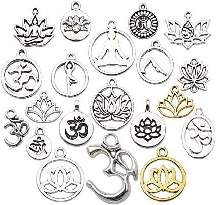10 pcs 20 x 17 x 2 mm Wholesale Metal Silver Love Ring Charms Charms for Necklace Bracelet Anklet Making