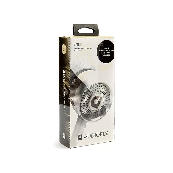 AudioFly AF45C - Auriculares in-ear con micrófono, Blanco: Amazon.es: Electrónica