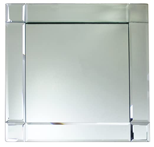 Framed Square Mirror Charger Plate - Silver mirror charger plates will enhance your tablescape! | http://christmastablescapedecor.com/elegant-silver-table-setting/
