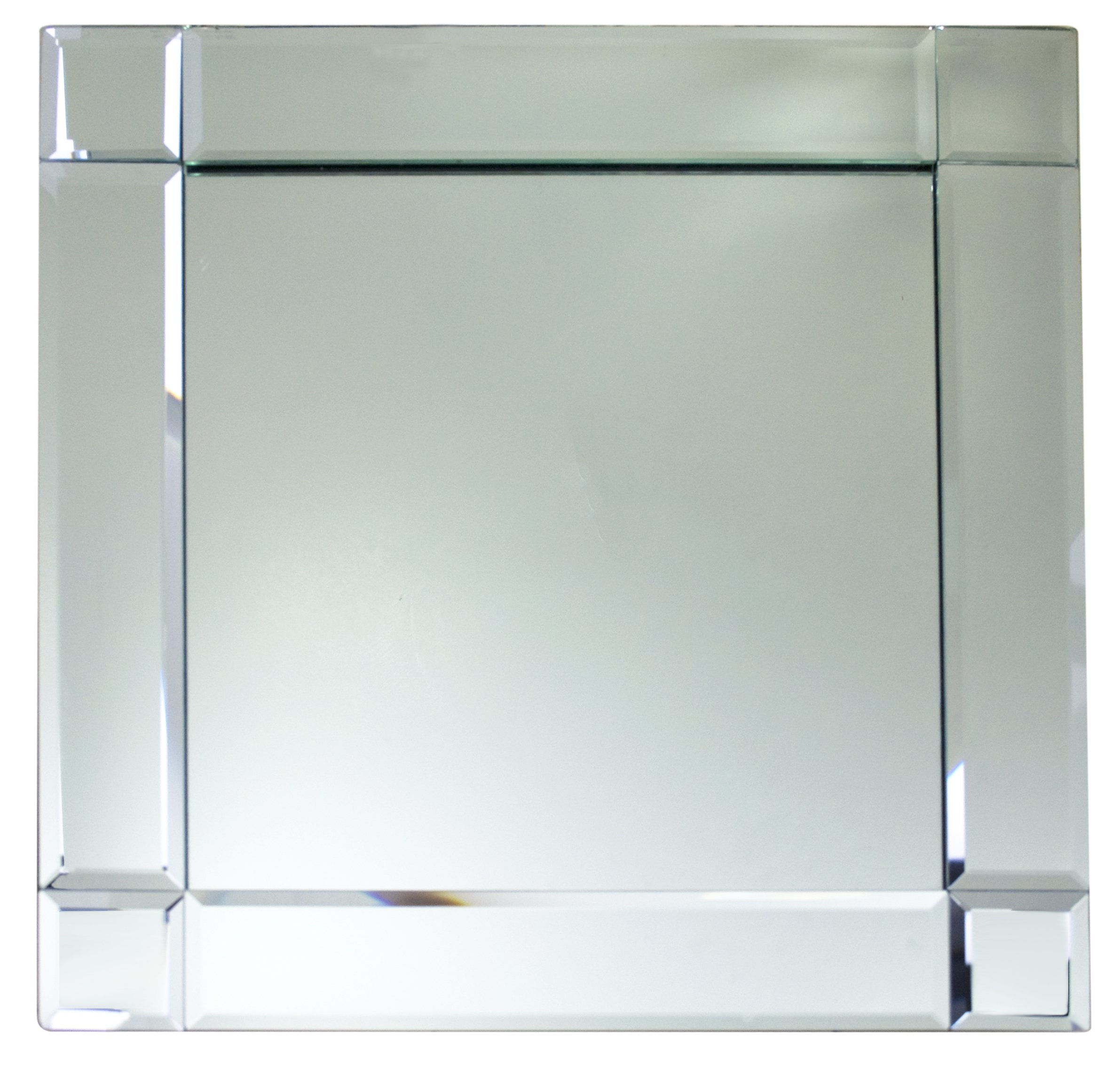 Framed Square Mirror Charger Plate