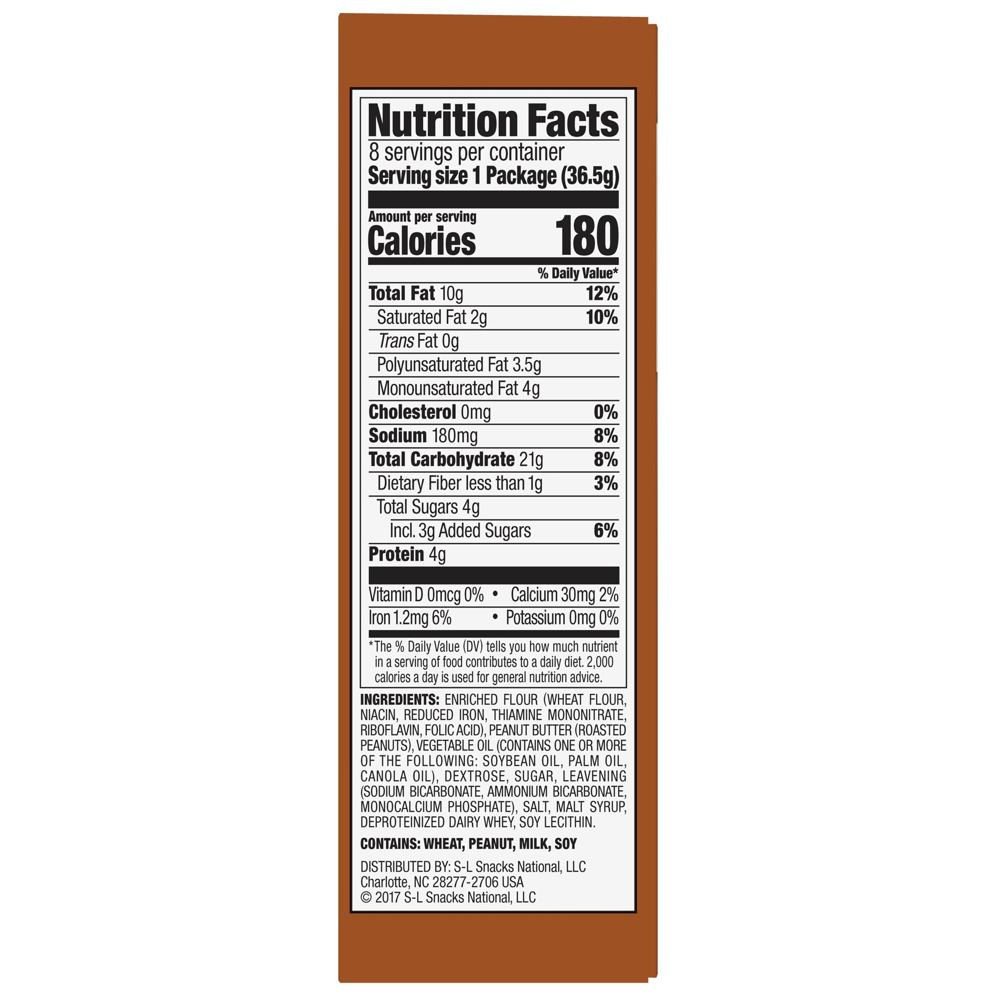 Lance Sandwich Crackers, Malt with Peanut Butter, 8-Count Boxes (Pack of 14) by Lance (Image #8)