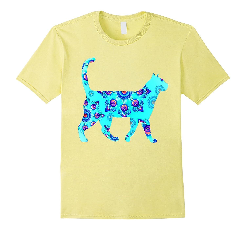 Bright Blue Cat Cool T-Shirt-T-Shirt