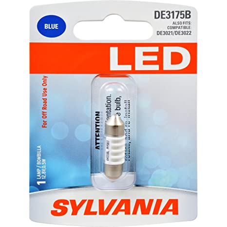 Amazon.com: SYLVANIA - DE3175 31mm Festoon LED Blue Mini ...