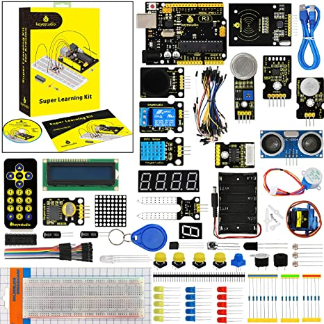 KEYESTUDIO Starter Kit for Arduino Education with Control Board for Arduino  UNO R3, Learn Teach and Make