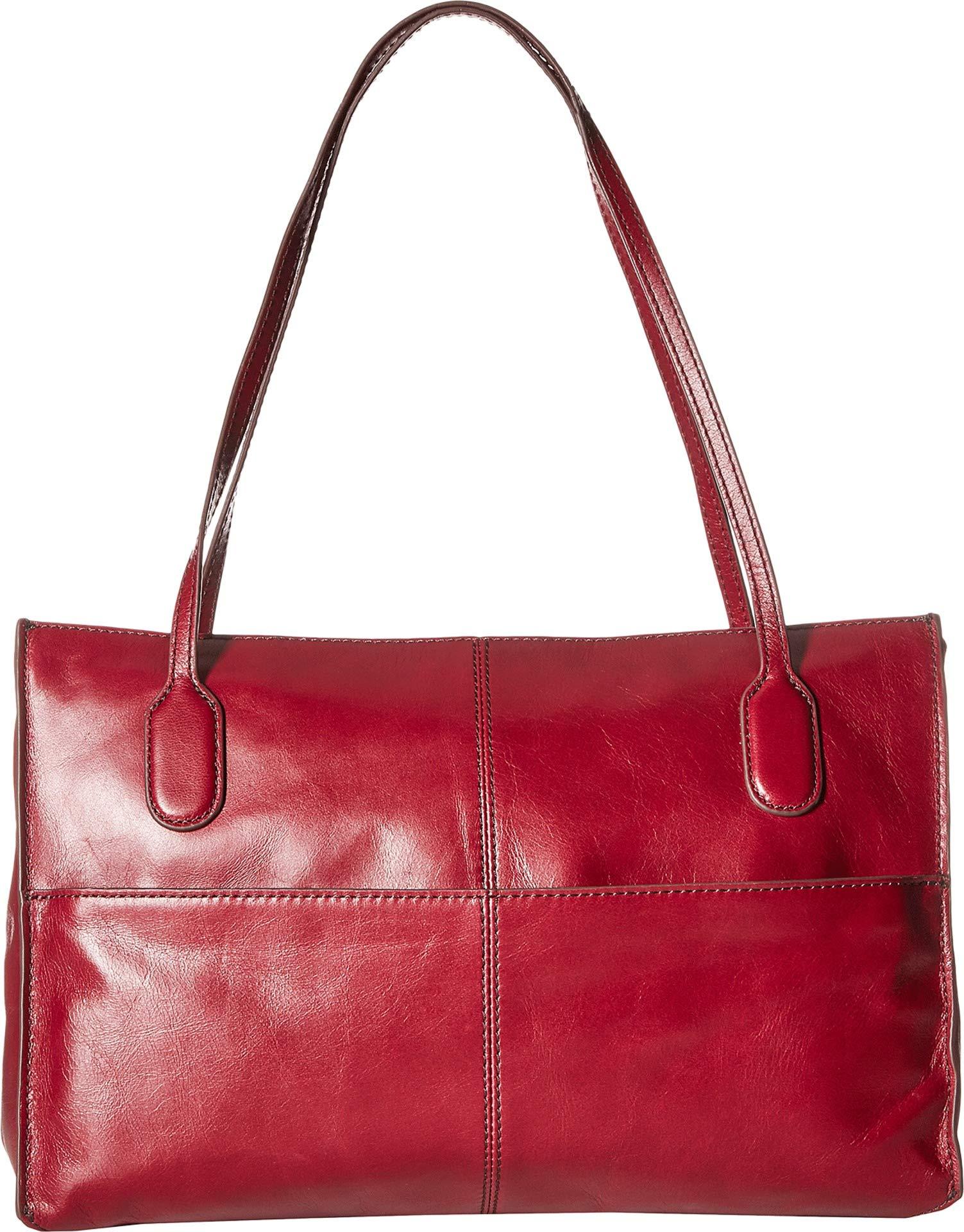 Hobo Women's Genuine Leather Vintage Friar Top Handle Shoulder Bag (Ruby)