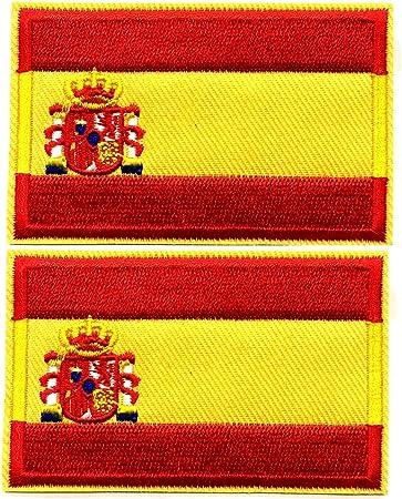 BANDERA DEL PARCHE BORDADO PARA PLANCHAR O COSER (España 5.5cm ...