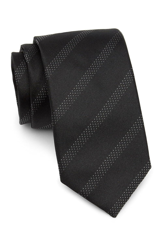 Boss Hugo Boss Diagonal Stripe Italian Silk Slim Tie, Black 50324213