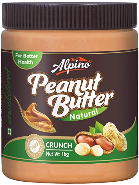 1bae85ee1c4 Alpino Natural Peanut Butter Crunch 1Kg (Unsweetened): Amazon.in ...