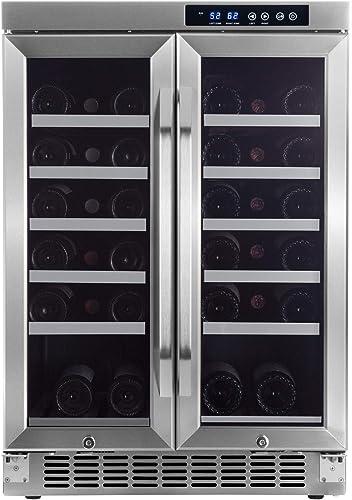 EdgeStar-36-Bottle-Built-In-Dual-Zone-French-Door-Wine-Cooler