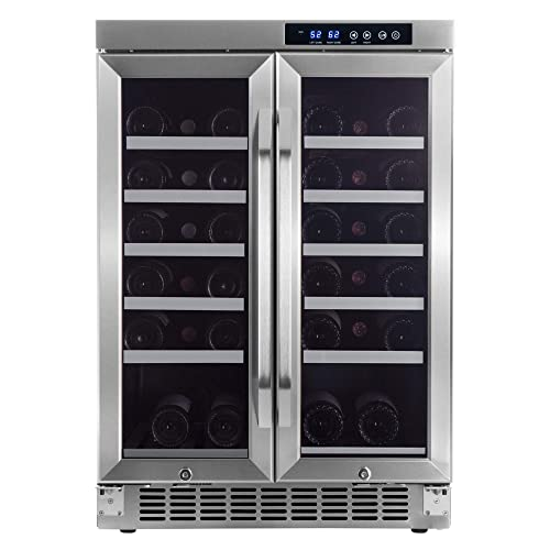 EdgeStar-36-Bottle-Built-In-Dual-Zone-French-Door-Wine-Cooler
