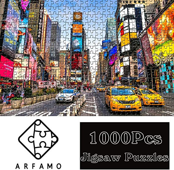 Vintage Paintings Landscape Jigsaw Puzzle Large Puzzle Game Toys Gift(London Street) Large Size New Puzzle for Adult and Kids 1000 Pieces Paper Outeck Puzzles