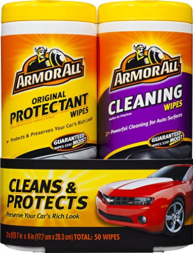 Armor All Original Protectant and Cleaning Wipes Twin Pack