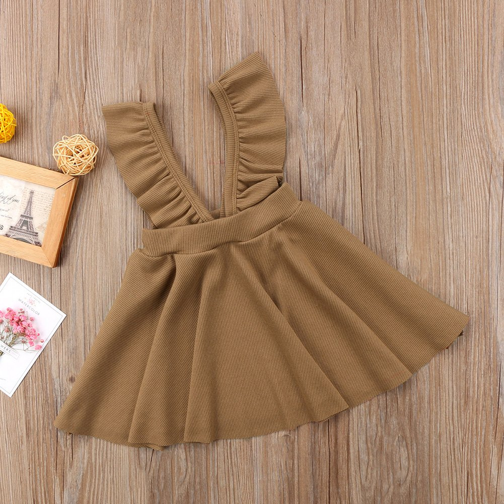 035b51d770a XARAZA Toddler Baby Girls Strap Suspender Skirt Overalls Dress Outfit  larger image