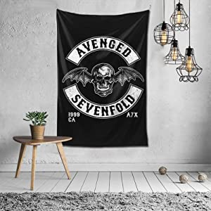 WilliamWButler Avenged Sevenfold Tapestry Indoor Wall Art Hanging Home Bedding Tapestries Home Decor for Living Room Bedroom 60 X40 Inch