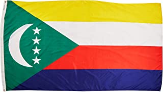 product image for Annin Flagmakers Model 191801 Comoros Flag Nylon SolarGuard NYL-Glo, 5x8 ft. 100% Made in USA to Official United Nations Design Specifications
