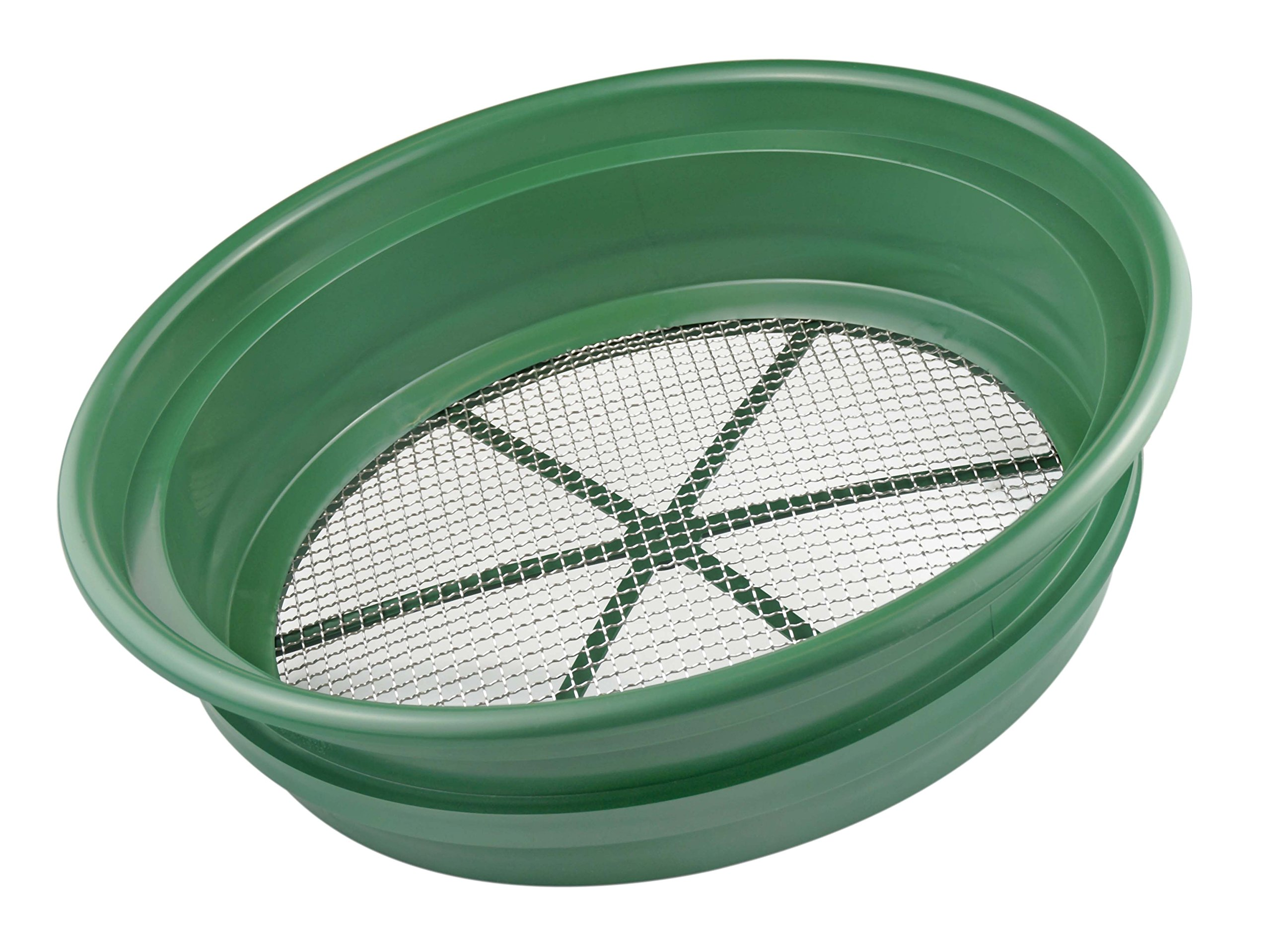 SE GP2-14 Patented Stackable 13-1/4'' Sifting Pan, 1/4'' Mesh Screen by SE