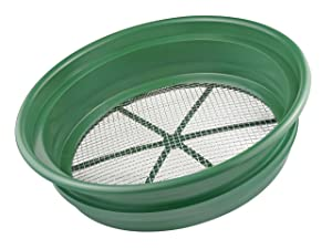 "SE GP2-14 Patented Stackable 13-1/4"" Sifting Pan, 1/4"" Mesh Screen"