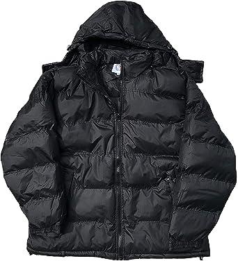 ouxiuli Mens Hoodies Padded Winter Warm Heavyweight Fleece Down Jacket Coat