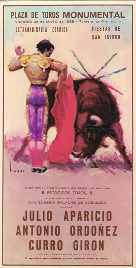 Tarjeta postal Corridas Tamaño: 105 x 205 mm Cartel de Toros ...