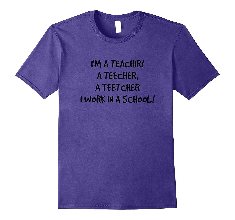 SARCASTIC TEACHER GRAPHIC TEES-Vaci