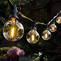 Lichtketting buiten, Hidixon G40 9.8M LED Lichtsnoer globe lampen buiten met 25+1 E12 kunststof gloeilampen, IP44…