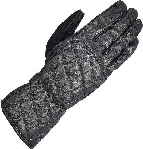 Oxford Somerville Waterproof Womens Ladies Leather Motorcycle Gloves Black
