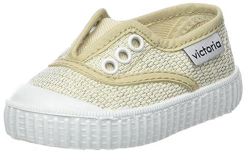 Victoria Inglesa Lona Tintada Puntera, Sneaker Unisex-Bambini, Oro, 34 EU