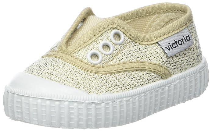 victoria Unisex-Kinder Inglesa Elástico Lurex Sneaker, Gold (ORO), 27 EU