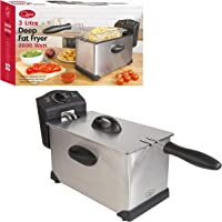 Quest Stainless Steel Deep Fat Fryer, 3 Litre