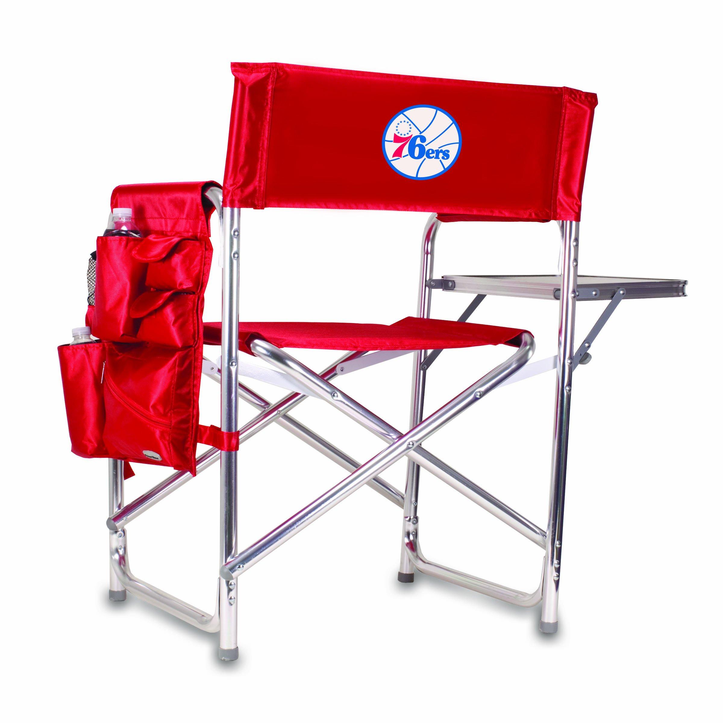 PICNIC TIME NBA Philadelphia 76ers Portable Folding Sports Chair, Red