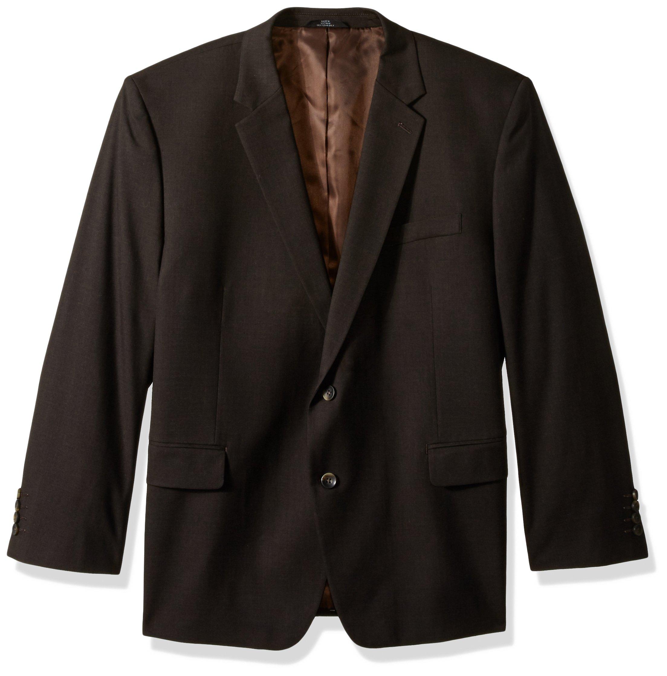 Haggar Men's Big and Tall J.m Premium Stretch Classic Fit 2-Button Coat, Chocolate, 50S