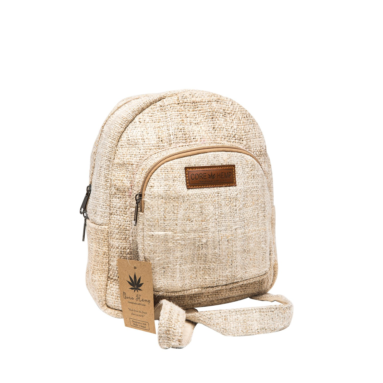 Core Hemp Mini Backpack (Natural) by Core Hemp