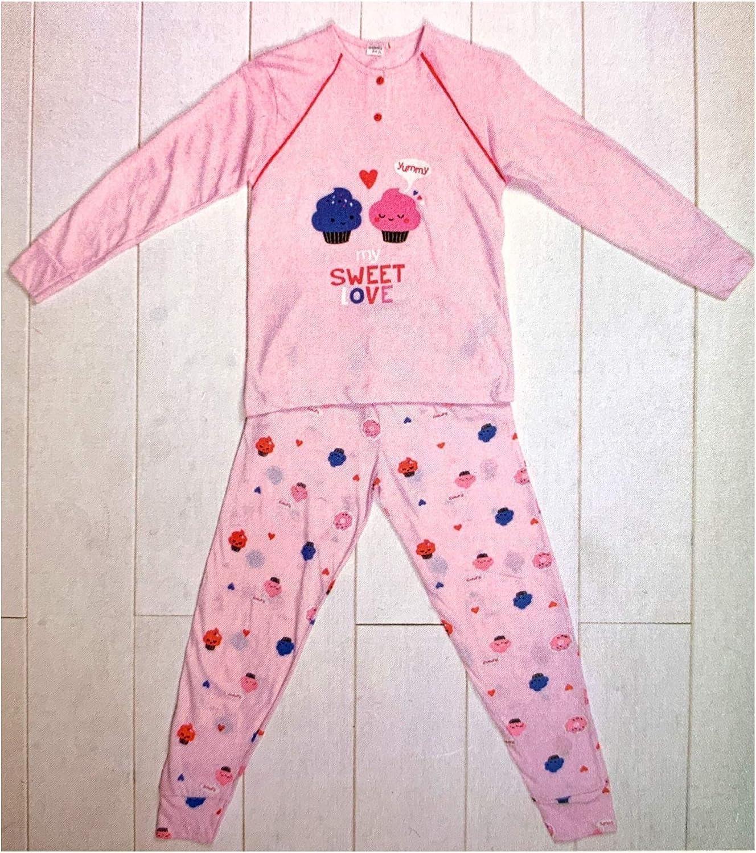 Pigiama Bimba Cotone Lungo 100/% per Bambina Primavera Fresco Manica Lunga da 3 A 10 Anni Vanu/è/® by KarelPi/ù