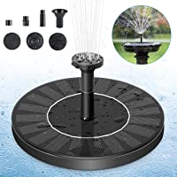Solar Fountain Pump, Solar Powered Bird Bath Fountain