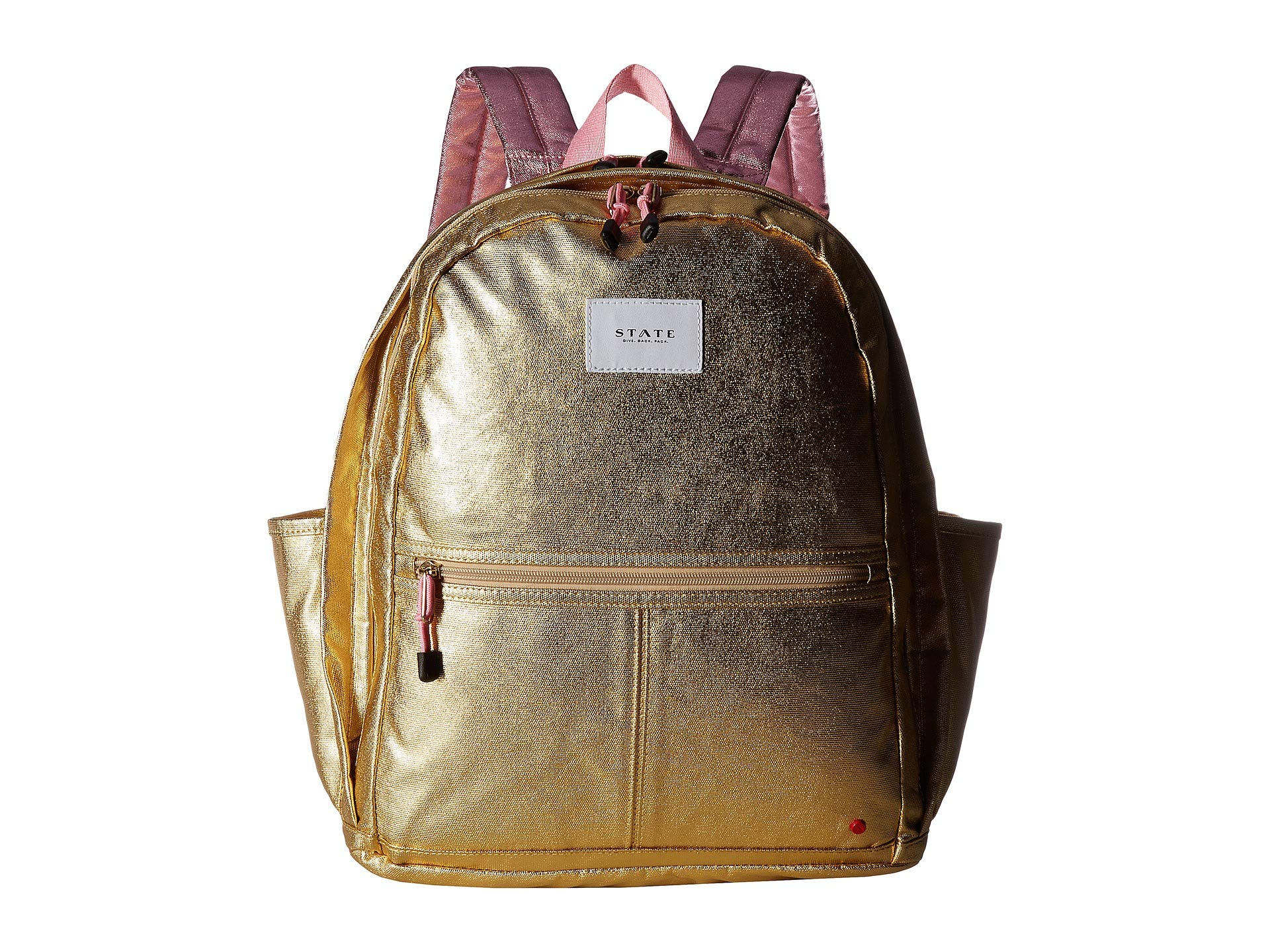 STATE Women's Kent Backpack, Gold/Pink, One Size by STATE Bags