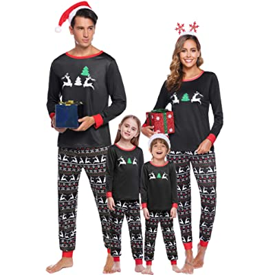 Abollria Family Christmas Pajamas Set Matching Cotton Xmas Sleepwear PJS Set for Women/Men/Boys/Girls at Amazon Women's Clothing store