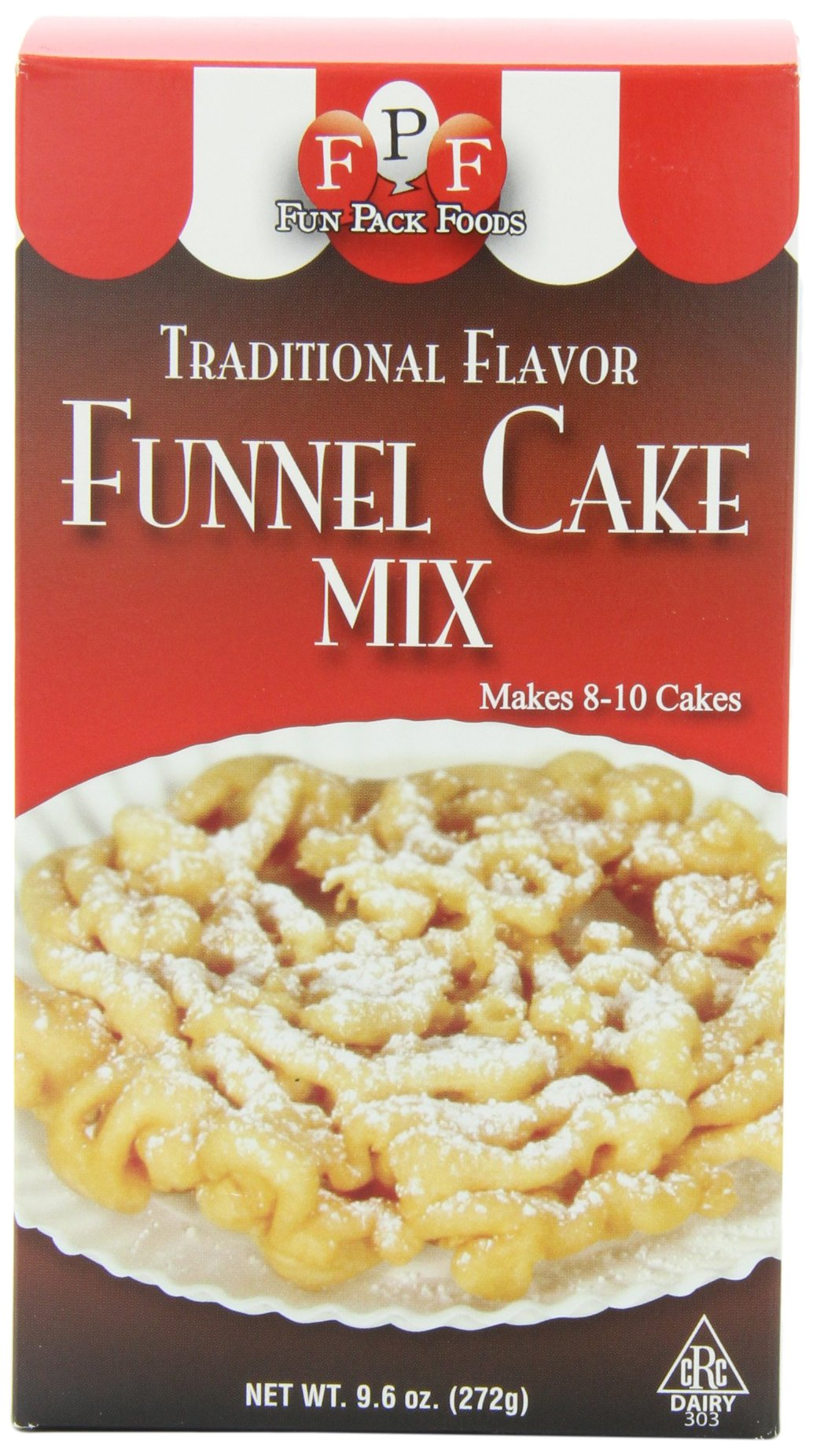 Dean Jacobs Funnel Cake Mix, 9.6-Ounce Boxes (Pack of 6)