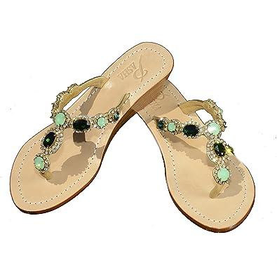 a7274e335 Genuine Leather Jeweled Shoes Pasha