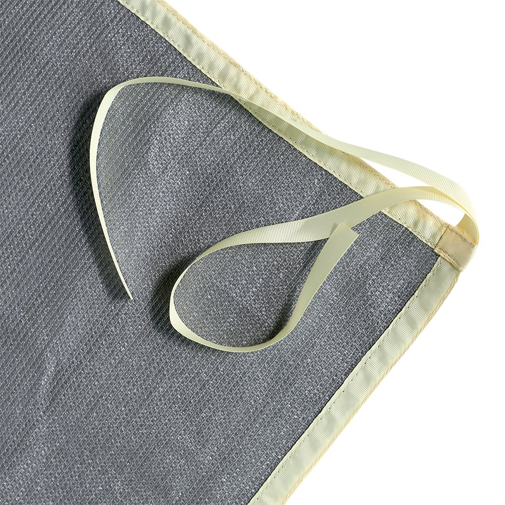 Shatex Shade Panel Block 90% of UV Rays with Ready-tie up Ribbon for Pergola/Greenhouses/Carport/Porch 12x16ft Grey