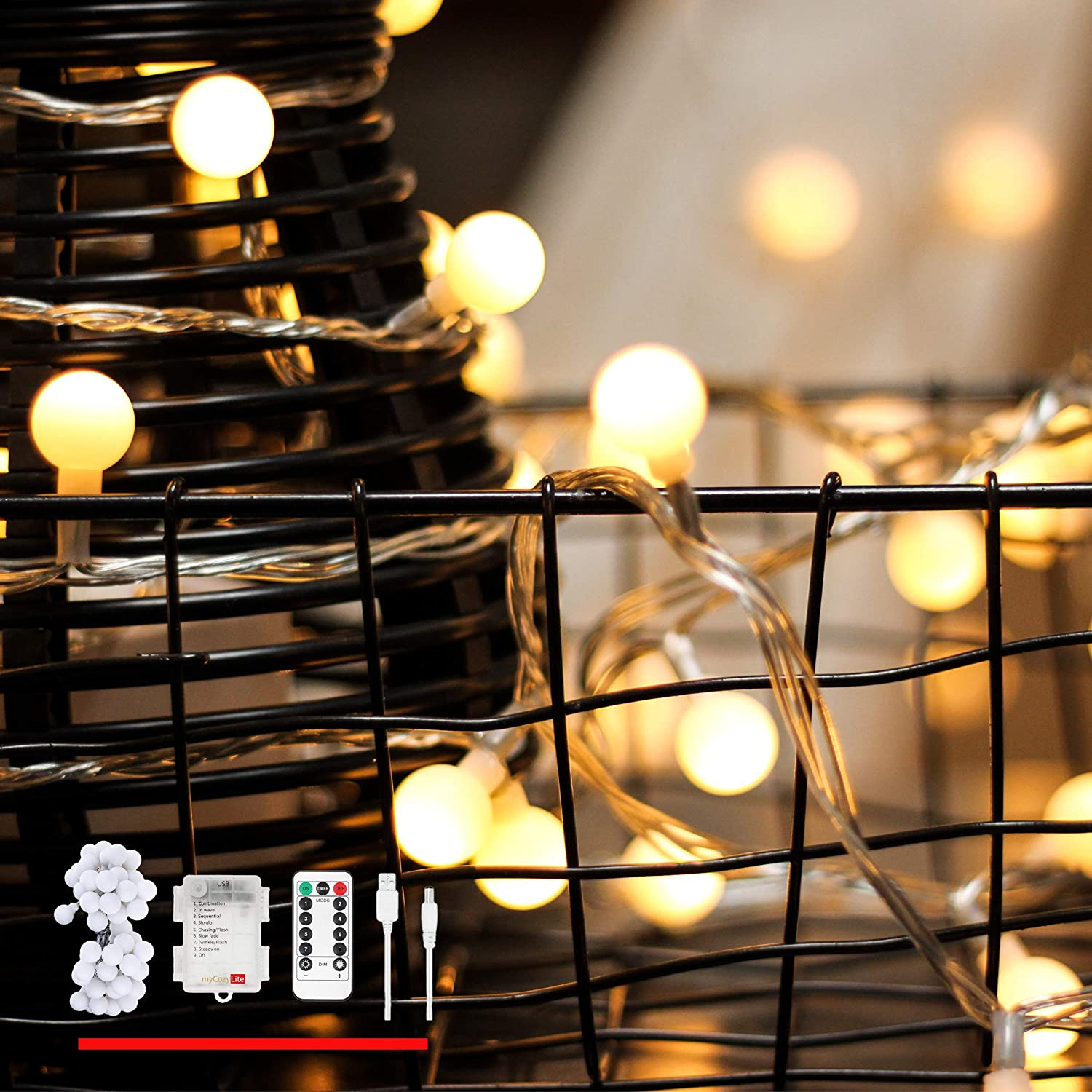 Amazon Com Louischoice Battery And Usb Powered Globe String Lights