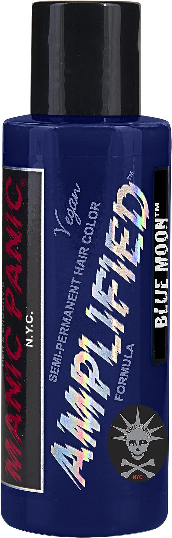 Tinte capilar semi-permanente de Manic Panic Amplified (Blue Moon - azul luna)