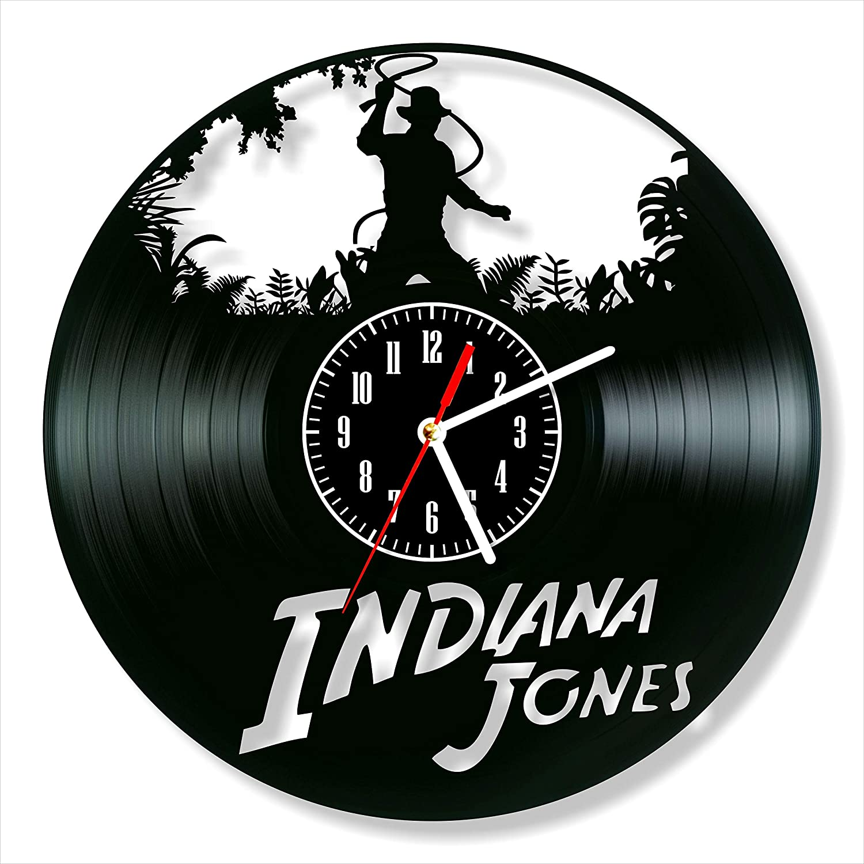 Indiana Jones Clock Vinyl Clock, Indiana Jones Wall Clock 12