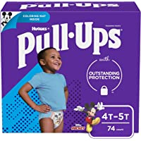 Pull-Ups Learning Designs Potty Training Pants for Boys, 4T-5T (38-50 Pounds), 74 Count (Packaging May Vary)