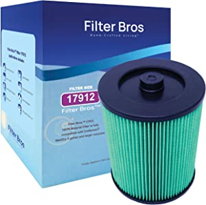 Craftsman 17912 Compatible HEPA Material Replacement Filter for Wet/Dry Shop Vacuums, for Fine/Large Debris, Irritants